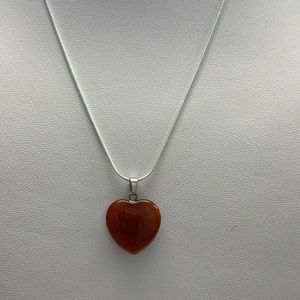 Jewelry - Red Crystal Stone Heart Necklace